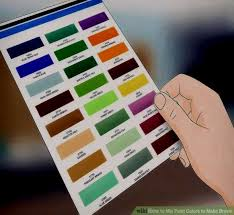 what two colors make brown how to mix paint colors to make brown 9 steps with