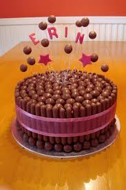 Maltesers Chocolate Finger Cake With Floating Maltesers Cute