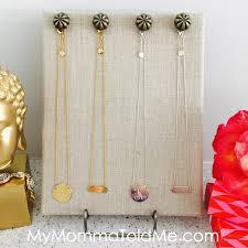 jewelry organizer diy project tutorial jewelry holder by mymommatoldme com