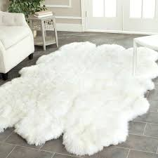 white hide rugs faux animal hide rugs great white cowhide rug sheepskin small fur area