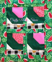 Crafty Moms Share: Fruit Exploration: Watermelon with a Quilt & For a craft we decided to make a watermelon doll quilt. I found this  pattern in one of the children's quilt books I had out from the library,  but forgot to ... Adamdwight.com