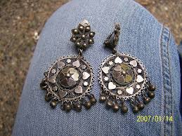 old vintage silver spanish gypsy filigree chandelier clip earrings marked l 372886287