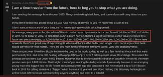 $23477.3 view event #176 on chart. Fact Or Fiction The Bitcoin Time Traveller Has Been Right Since 2010 Bitcoin
