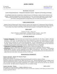 Sample Resume for Business Analyst Skills List Sample Resume For Business  Analyst Profile Entry Level ...