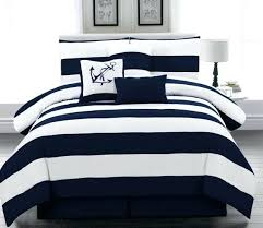 navy and white striped bedding navy rugby stripe bedding