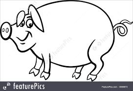 farm pig stock illustration 2590672 farm pig cartoon for coloring book illustration on coloring book pig