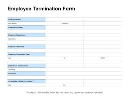 Employee Termination Templates Employee Termination Form Marketing Ppt Powerpoint