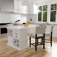 Shop Tia Modern Antique White Counter Height Kitchen Island Table By