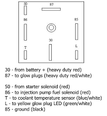 fast glow plug relay wiring diagram page idi engine here s the wiring diagram for the relay socket it will need to be connected to a dedicated coolant temperature sensor and the starter feed