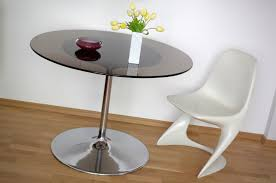 Kitchen: Awesome Vintage Tulip Base Table With Smoked Glass Top 2 Design  Idea Tulip Kitchen
