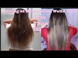 toning my hair using wela t18 you