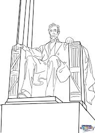 lincoln memorial coloring page qlyview color print