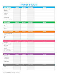 free family budget worksheet free printable family budget worksheets