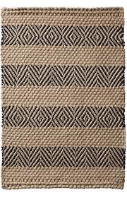 designer stripe jute rug latex backed