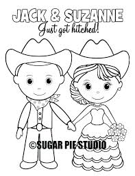 customizable coloring pages custom wedding coloring sheets like this item western rustic wedding coloring activity book