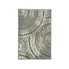 spiral medallion gray 2 ft x 3 ft ter rug