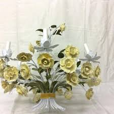 tole chandeliers tole chandelier yellow porcelain roses flowers vintage tole chandelier for