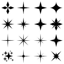 装飾用のキラキラや星のカラーセットイラスト No 1172300無料