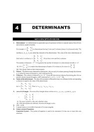 Cbse Class 12 Maths Chapter 4 Determinants Formula