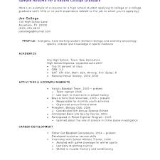 Spectacular Examples Of Student Resumes With No Work Experience