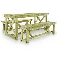 Vidaxl Biertisch Mit 2 Bänken Hochwertiges Holz