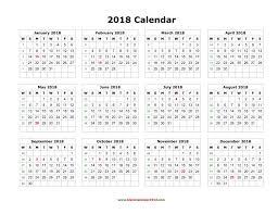 download blank calendar 2018 templates free printable