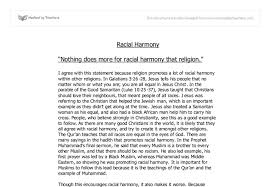 exam style question on racial harmony r e gcse religious document image preview
