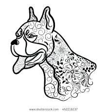 Boxer Dog Coloring Pages At Getdrawingscom Free For Personal Use