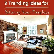 refacing fireplace ideas brick painted surround