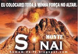 Resultado de imagem para Deus no Sinai