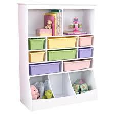 wooden toy storage white