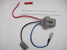 ford 3g alternator conversion harness connector 1 wire ebay 1u2z-14s411-ta at Alternator Wiring Harness Ford