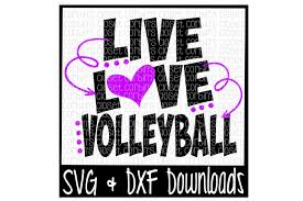 This can be used with the silhouette cutting machines, circuit, or other program/software also can be used as the vector editable and for online version. Free Live Love Volleyball Cutting File Crafter File
