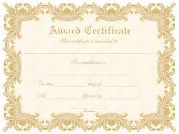 Formal Award Certificate Template