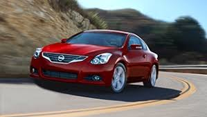 nissan altima coupe 2013. 2013 nissan altima coupe side profile in cayenne red