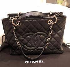 chanel inspired bags. 100% authentic chanel grand shopper gst black caviar leather silver hardware chanel inspired bags