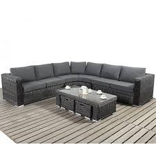platinum round corner sofa set with coffee table and footstools