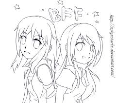 Cool Bff Coloring Pages