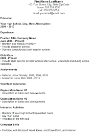 Resume Templates Students Student Resume Examples College Student