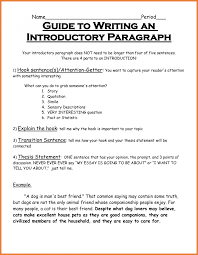 an introductory paragraph for an essay the five paragraph essay capital community college