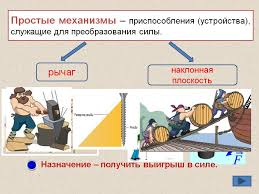 Урок физики по теме Простые механизмы Рычаг  Назад