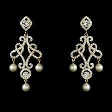 antique chandelier earrings majestic austrian crystal pearl chandelier earrings