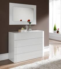 sandra contemporary medium size chest of drawers in white high