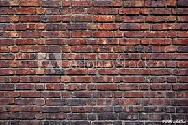 the old red brick wall wall mural