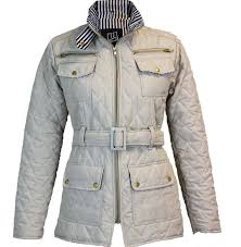 Barber MA1 Belted Padded Diamond Quilted Jacket Ladies Detail ... & Womens Barber MA1 Belted Padded Diamond Quilted Jacket Ladies Detail Pocket  Coat Adamdwight.com