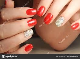 Krásné červené Nehty Stock Fotografie Smirmaxstock 169587108