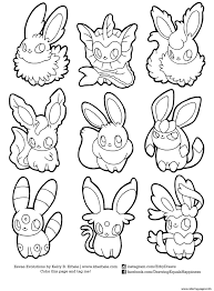 Small Picture Pokemon Eevee Evolutions List Coloring Pages Printable Within