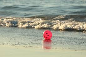 beach ball on beach. Ball Beach Happy Ocean Pink Smile Smiley B On