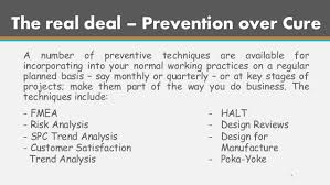 tqm prevention is better than cure 4 the real deal prevention over cure