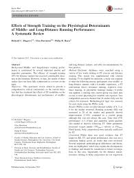 pdf effects of strength on the physiological determinants of middle and long distance running performance a systematic review